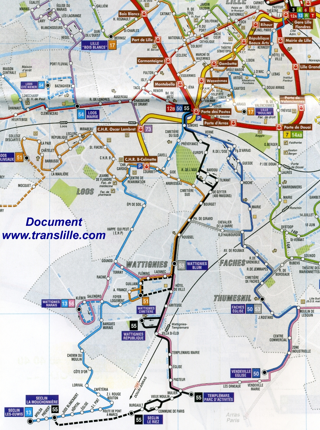 Carte Bus Lille.55 Lille Wattignies Seclin La Derniere Trace Des Annees